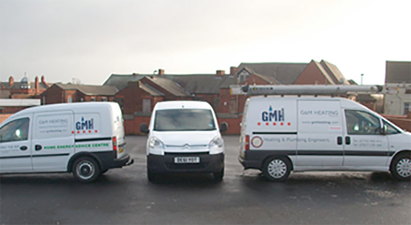 G&M Heating Utilities Company Vans